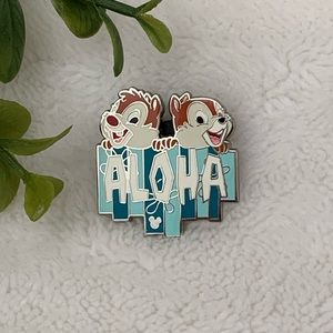 Disney Chip N Dale Aloha Hidden Mickey Trading Pin